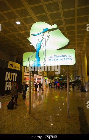 El Prat airport T2 A terminal Barcelona Catalunya Spain Europe - Stock Photo