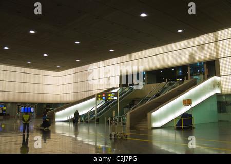 El Prat airport T2 terminal Barcelona Catalunya Spain Europe - Stock Photo
