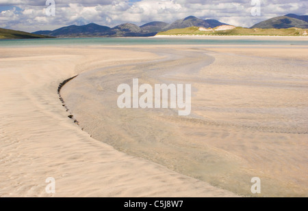 Beach at Seilebost, Isle of Harris, Outer Hebrides - Stock Photo
