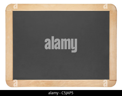 Small blackboard isolated on white, clipping path included - Stock Photo