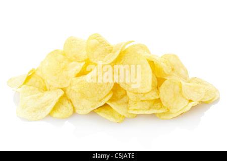 Potato chips isolated - Stock Photo