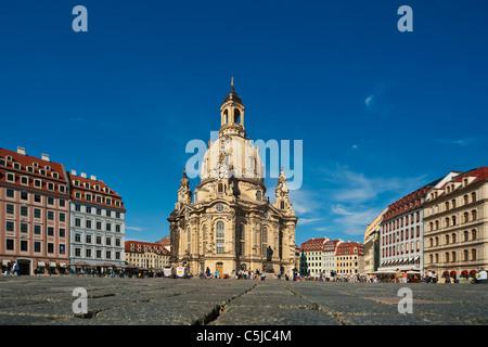 Frauenkirche Dresden   Church of Our Lady, Dresden - Stock Photo