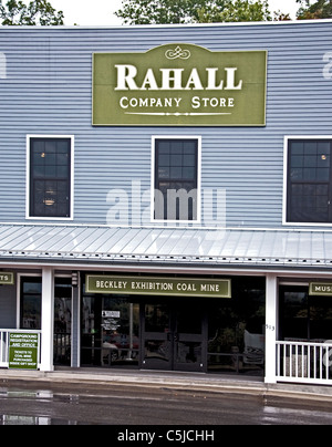 The  Rahall Country Store and museum at the Beckley Exhibition Coal Mine in Beckley, West Virginia - Stock Photo