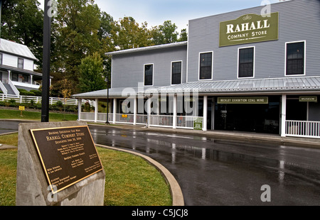 Tthe  Rahall Country Store and  museum at the Beckley Exhibition Coal Mine in Beckley, West Virginia - Stock Photo