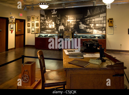 Exhibit at the  Rahall Country Store museum at the Beckley Exhibition Coal Mine in Beckley, West Virginia - Stock Photo