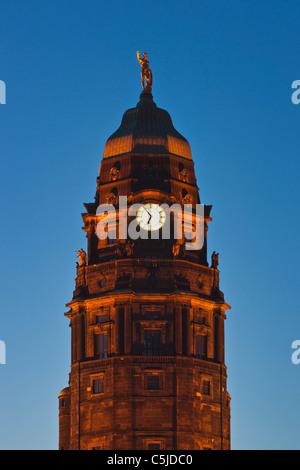 Rathaus Dresden   Dresden guildhall - Stock Photo
