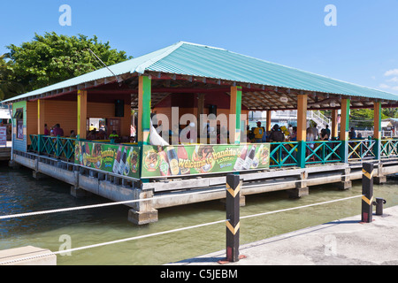 Bandito's Lobster House restaurant and bar near cruise terminal in Belize City, Belize. - Stock Photo