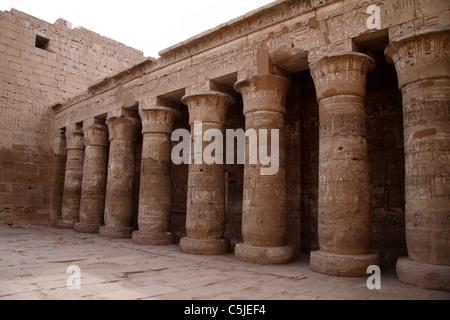 Temple of king Ramses III (City of Habu) - Stock Photo