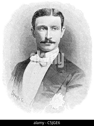 Napoléon, Prince Imperial (1856-1879). Illustration originally published in Harper's Monthly December 1879. - Stock Photo