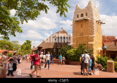 People at Disneyland Paris in France - Stock Photo