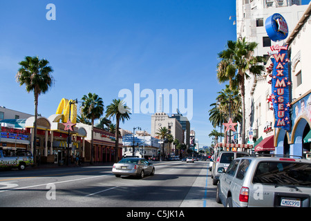 View of Hollywood, Los Angeles, California, USA - Stock Photo