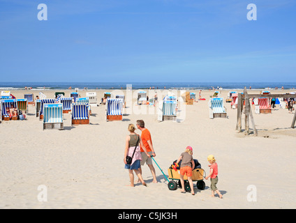 beach of St. Peter-Ording, North Friesland, Schleswig-Holstein, Northern Germany - Stock Photo