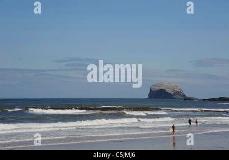 Bass Rock, off the coast of North Berwick, East Lothian. - Stock Photo