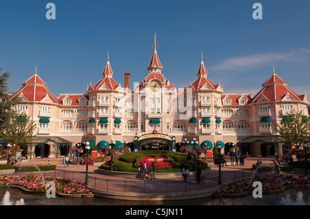 The Disneyland Hotel at Disneyland Paris in France - Stock Photo