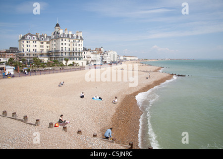 Eastbourne seafront. East Sussex, England, UK - Stock Photo
