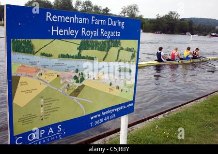 Henley Royal Regatta, Henley-on-Thames, Oxfordshire, UK. - Stock Photo
