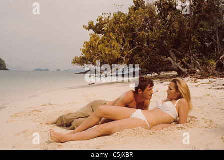 ursula andress and jean paul belmondo, Chinese Adventures in China, Les Tribulations d'un Chinois en Chine, 1965 - Stock Photo