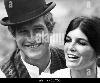 paul newman, katharine ross in Butch Cassidy 1969 - Stock Photo