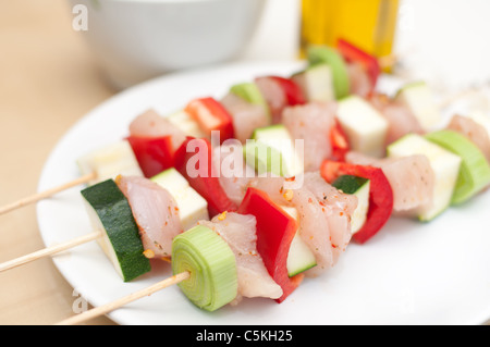 Preparation of shish kebab - Stock Photo