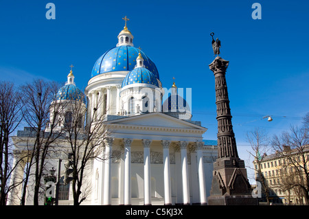 The Holy Trinity Cathedral, St Petersburg, Russia - Stock Photo
