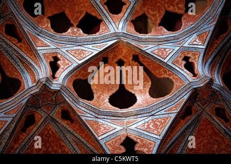 Ali Qapu palace (early 17th century), Imam square, Isfahan, Iran - Stock Photo