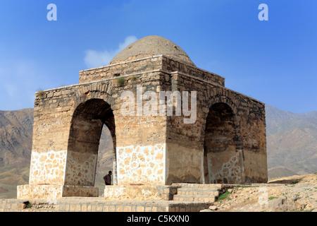 Sassanian fire altar (chortak) (3rd century), Niasar, province Isfahan, Iran - Stock Photo