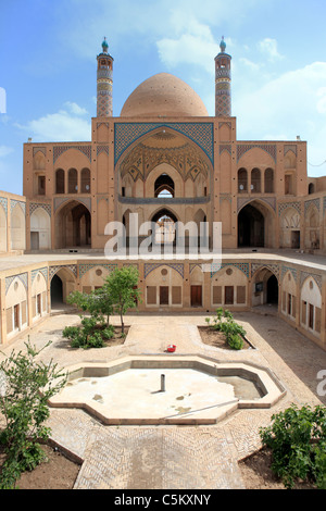 Agha-Bozorg mosque (1832), Kashan, province Isfahan, Iran - Stock Photo