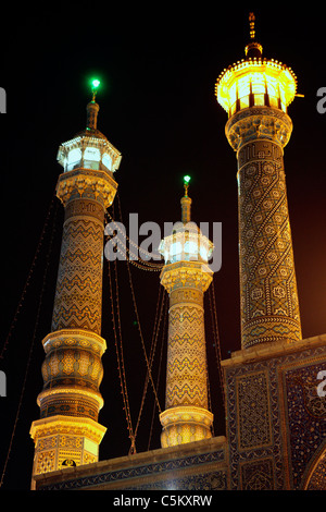 Hazrat-e masumeh shrine (early 19th century), Qom, province Qom, Iran - Stock Photo