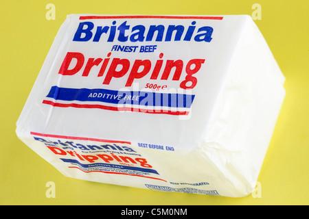 500 gram block of Britannia finest beef dripping. - Stock Photo