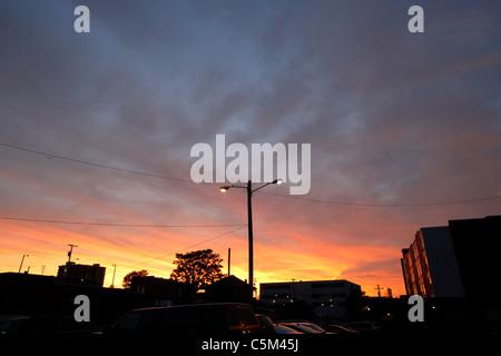 sunset over Nashville Tennessee USA - Stock Photo