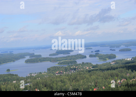 Aerial view of Kuopio, Eastern Finland - Stock Photo