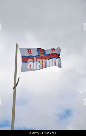 Royal National Lifeboat Institute flag. Ireland. - Stock Photo