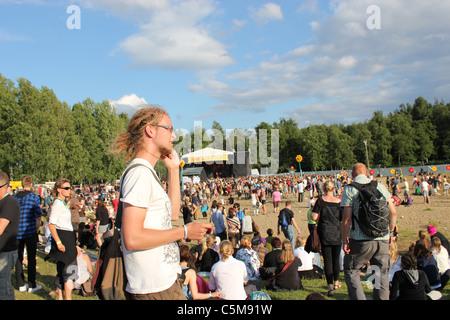 Ilosaarirock music festival in Joensuu 15-17th July 2011 - Stock Photo