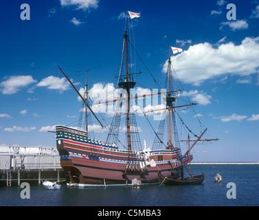 Mayflower II Replica Ship. - Stock Photo