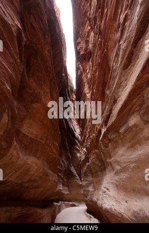 Canyon at Petra- Jordon - Stock Photo