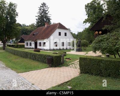 Kumrovec, Croatia - Born house of political leader marshal  Josip Broz Tito in old village musem - Stock Photo