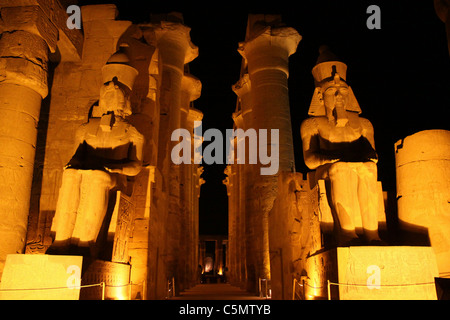 The court  of king Ramses II - Luxor temple - Stock Photo
