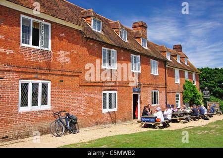 Georgian terraced cottages, Buckler's Hard, Hampshire, England, United Kingdom - Stock Photo