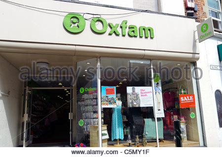 Oxfam charity shop, Stroud, UK. - Stock Photo