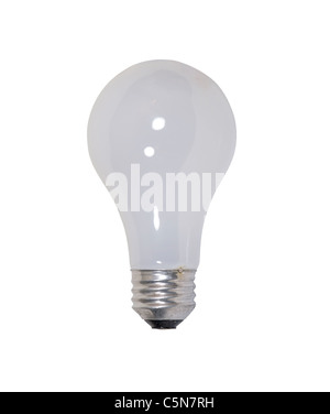 Round glass bulb light bulb used to light a room - path included - Stock Photo