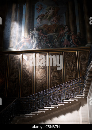 Kings staircase, Hampton Court Palace, Hampton Court,Surrey, England - Stock Photo