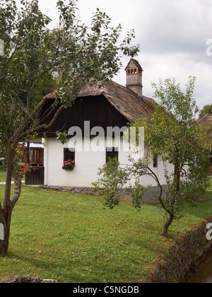 Old village - Staro selo - open historic museum in Kumrovec, Croatia, with born house of marshal Josip Broz Tito - Stock Photo