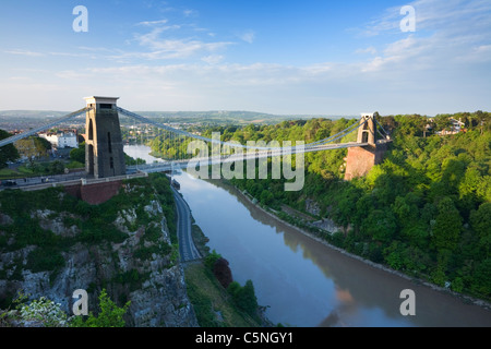 Clifton Suspension Bridge. Bristol. England. UK. - Stock Photo