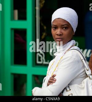 Cuba, Havana. Afro-Cuban Santeria Adherent. - Stock Photo