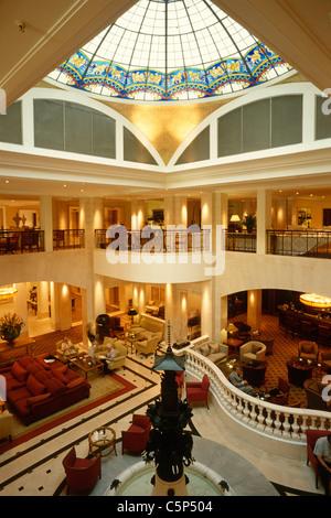 Lobby of the Hotel Adlon Kempinski Berlin Germany. - Stock Photo