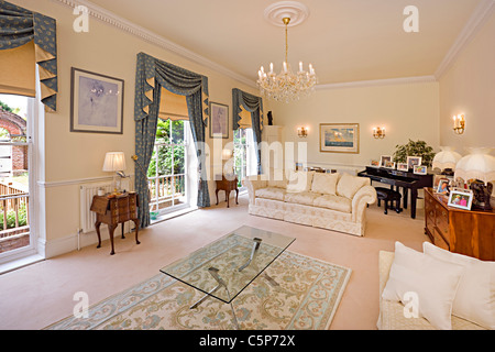 Interior Of A Traditional English Sitting Room Stock Photo