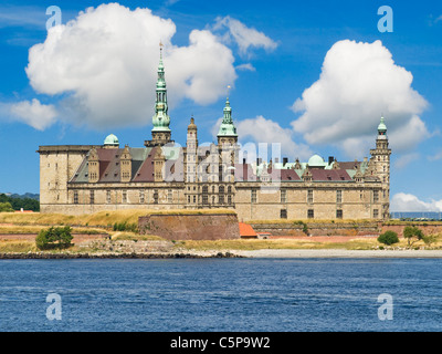 Hamlet Castle Kronborg, Elsinore municipality, Region Hovedstaden, island of Zealand, Denmark, Europe - Stock Photo