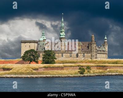 Hamlet Castle Kronborg, Elsinore municipality, Region Hovedstaden, island of Zealand, Denmark, Europe - Stock Photo