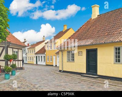 birthplace from Hans Christian Andersen,Odense Municipality, Region Syddanmark, Funen Island, Denmark, Europe - Stock Photo