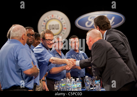 United Auto Workers and Ford Motor Company Begin Contract Negotiations - Stock Photo